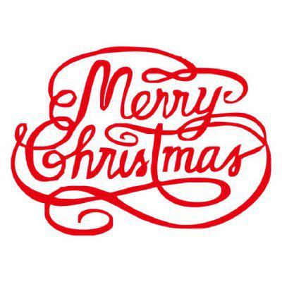 DSU Merry Christmas Red Quote Wall Sticker For Kids Room Store Window