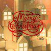 DSU Merry Christmas Red Quote Wall Sticker For Kids Room Store Window - RED