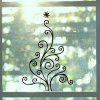 DSU Flower Vine Merry Christmas Wall Sticker for Home Wall Decal Xmas - BLACK