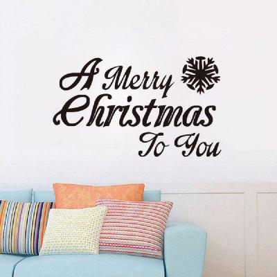DSU Xmas Party Decoration Window Sticker Living Room Decal Merry Christmas Quote