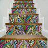DSU Colorful Abstract Fantasy Leaves Style Stair Sticker Wall Decor LTT001 - MIX COLOR