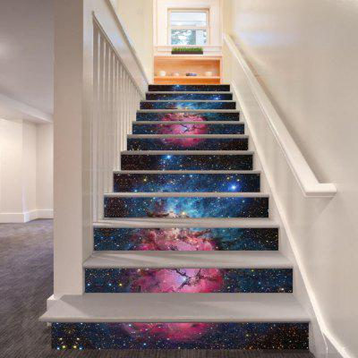 DSU Dream Star Nebula Pattern Style Stair Sticker Wall Decor LTT006