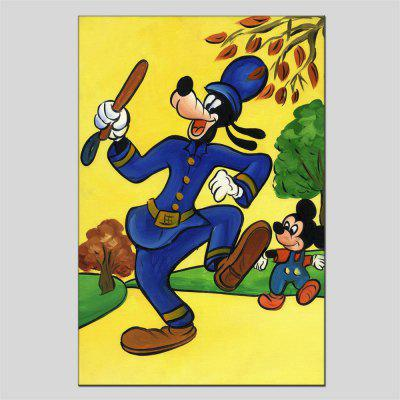Hua Tuo Cartoon Animal Oil Painting Size 60 x 90CM HT-1547