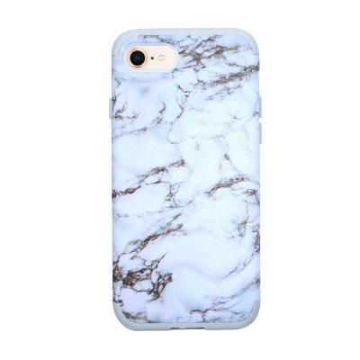 3 in 1 PC with Silicone Marble Design Phone Cover Case for iPhone 7 / 8