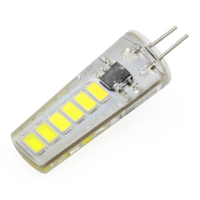 WeiXuan 2W 12V G4 SMD5730 Warm / Cold White Dimmable Silicone LED Bi-pin Bulb