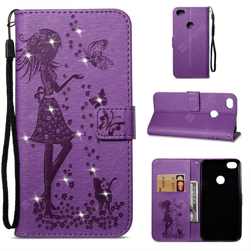 Wkae Beauty Butterfly Holster With Sticking Drill for Redmi Note 5A