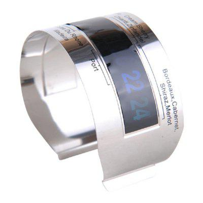 Hoard Stainless Steel Wine Bracelet Thermometer 4-26 Centigrade Degree Red Wine Temperature SensorBarware<br>Hoard Stainless Steel Wine Bracelet Thermometer 4-26 Centigrade Degree Red Wine Temperature Sensor<br><br>Available Color: Silver<br>Material: Plastic with Metal<br>Package Contents: 1 x Wine Thermometer<br>Package size (L x W x H): 6.00 x 6.00 x 4.00 cm / 2.36 x 2.36 x 1.57 inches<br>Package weight: 0.0220 kg<br>Product size (L x W x H): 5.30 x 5.30 x 2.70 cm / 2.09 x 2.09 x 1.06 inches<br>Type: Barware
