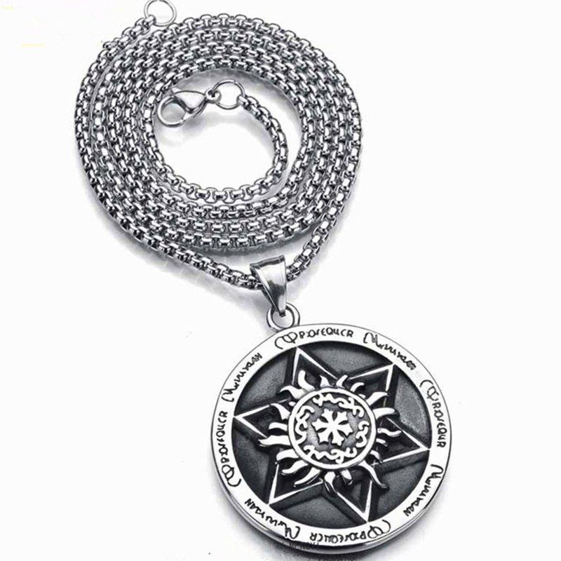 Nouveaux hommes Six Pointed Star Exaggerated Hip Hop Collier
