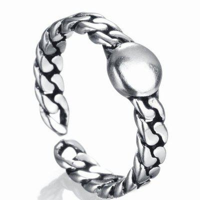 Buy New Men's Chains Round Mirror Open Sterling Silver Ring SILVER for $8.55 in GearBest store