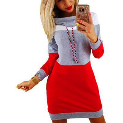 Long Sleeved Knit Turtleneck Dress