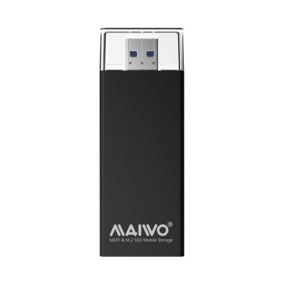 maiwo K1688 USB3.0 M.2 NGFF SSD Enclosure B+M Key M.2 to USB 5Gbps External M2SSD Adapter Support UASP for Laptop