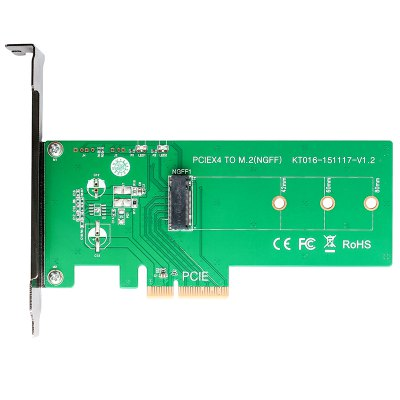 Maiwo KT016 M.2 PCIe 3.0 x 4 Adapter Card Support M.2 PCIe 2280 2260 2242