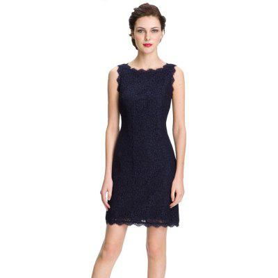 Фото New Style Summer Fashion Elegant Women Embroidery Sexy Lace  Sleeveless Casual Evening Party  Dress