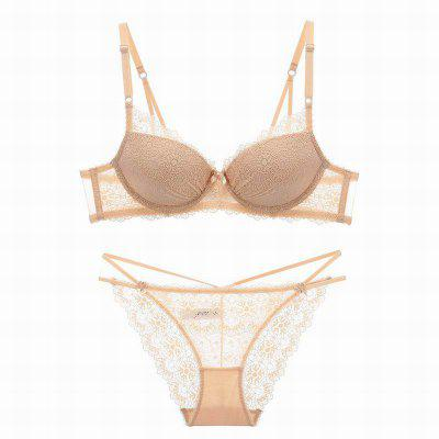 Women Push Up Deep V Lace Bra Sexy Lace Underwear Suits