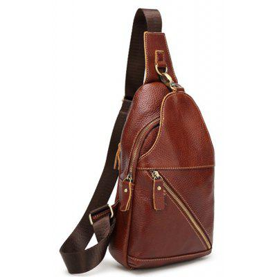 Fashion Casual Simple Real Leather Cross-body Bag