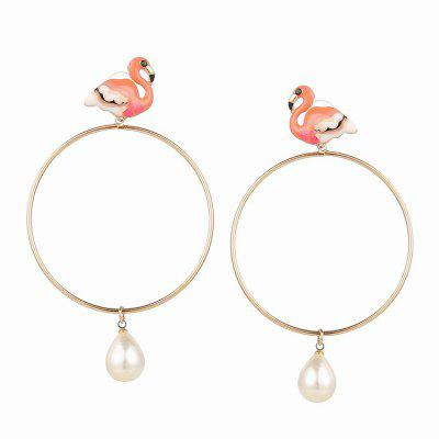 Boucles d'oreilles perle grand cercle Fashion