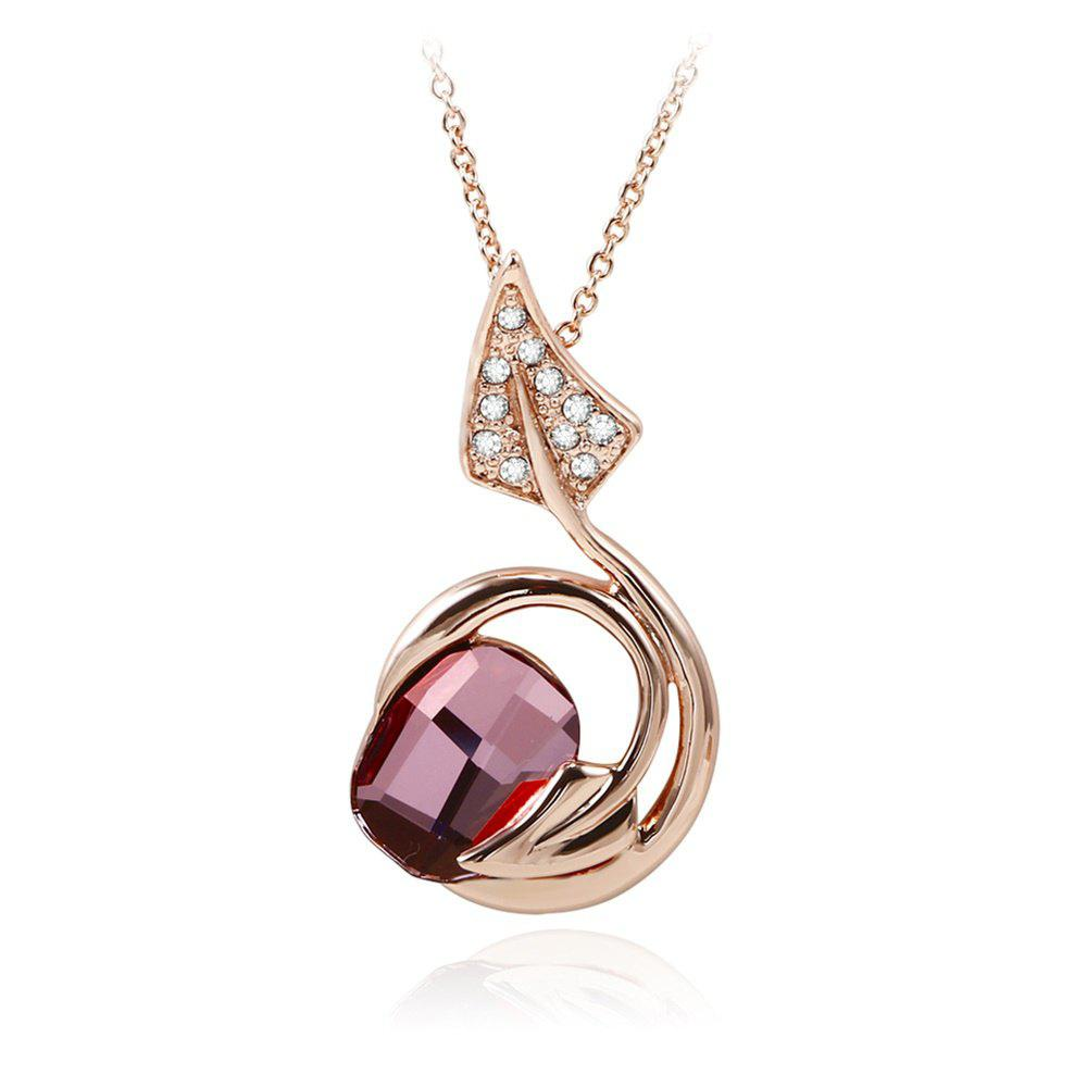 OUXI Rose Or Sprout Mode Romantique Femme Fille Collier