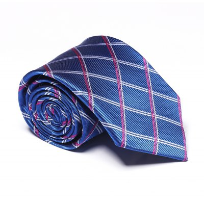 Accessoire de mode Men's Business Cravate Rayé Lattice Casual Plaid Classique All Match Lisse Cravate