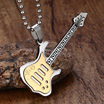 Titanium Steel Pendants Music Fashion Plating Black Guitar Necklace JewelryMens Jewelry<br>Titanium Steel Pendants Music Fashion Plating Black Guitar Necklace Jewelry<br><br>Gender: For Men<br>Item Type: Chains Necklaces<br>Length of Chain: 60cm<br>Metal Type: Stainless Steel<br>Package Contents: 1 x Necklace<br>Package size (L x W x H): 7.00 x 5.00 x 0.50 cm / 2.76 x 1.97 x 0.2 inches<br>Package weight: 0.1140 kg<br>Style: Punk