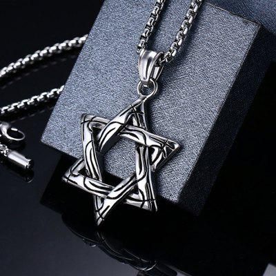 Fashion Six Star Titanium Steel Mens Pendant JewelryMens Jewelry<br>Fashion Six Star Titanium Steel Mens Pendant Jewelry<br><br>Gender: For Men<br>Item Type: Chains Necklaces<br>Length of Chain: 60cm<br>Metal Type: Stainless Steel<br>Package Contents: 1 x Necklace<br>Package size (L x W x H): 7.00 x 5.00 x 0.50 cm / 2.76 x 1.97 x 0.2 inches<br>Package weight: 0.1270 kg<br>Style: Retro