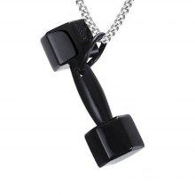 Men 's Pendant Fashion Personality Stainless Steel Dumbbells Barbell Fitness Sports Jewelry