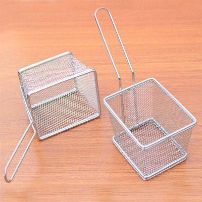 Mini Square Stainless Steel  Fry Basket Present Fried Food Table Serving Frying Basket for French fast food leisure fast food equipment stainless steel gas fryer 3l spanish churro maker machine