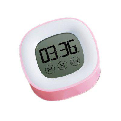 Electronic Liquid Crystal Touch Timer Electronic Timer Pink