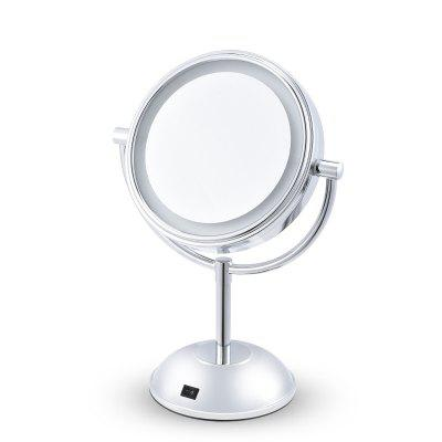 Desk Stand Portable Cosmetic Makeup Mirror Double Sided Magnifying