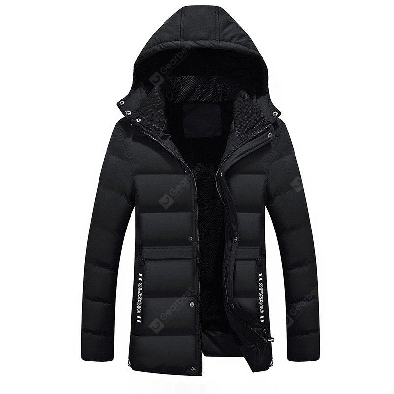 New Fashion Autumn and Winter Thickened Men'S Hooded Cotton-Padded Clothes