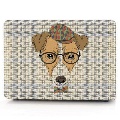 Computer Shell Laptop Case Keyboard Film for MacBook New Pro 15.4  inch Touch 2016 3D Glasses Dog