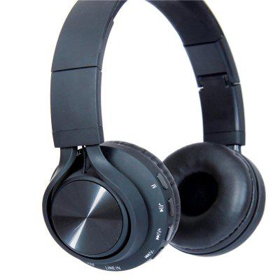 Bluetooth Headset Wearing Headphones,Bluetooth Protocol 4.1- Black