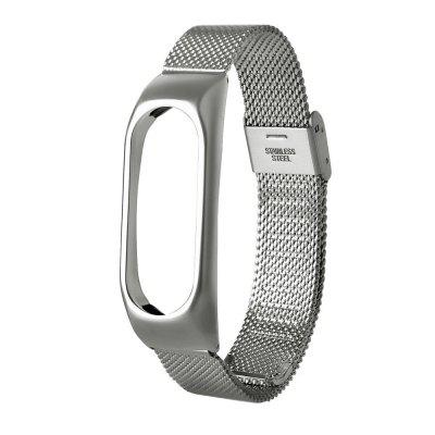 For Xiaomi Mi Band 2 Mesh Stainless Steel Bracelet Wristband  Metal Strap
