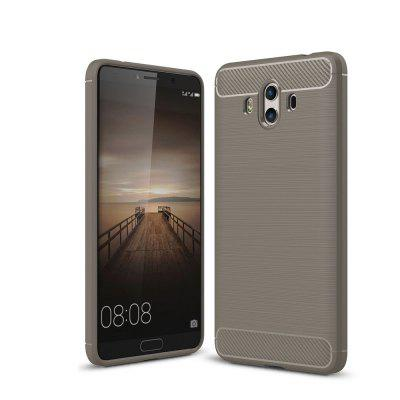 Leather Business Carbon Fiber Pattern Soft TPU Cover Case para Hawei Mate 10
