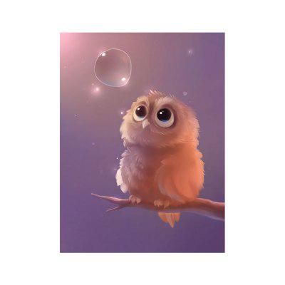 Cartoon Animal Owl Print Draw Diamond Drawing
