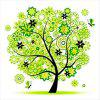 Four Seasons Rich Tree Painting Of Diamond Embroidery - GREEN