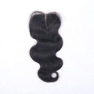 100% Human Hair Virgin Brazilian Body Wave Lace Closure with Baby Hair Middle Part 4x4 Women Hairpiece Closures indian virgin hair body wave lace closure 8a 100