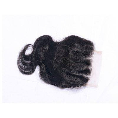 "4x4"" Brazilian Virgin Real Human Hair Body Wave Closure with Baby Hair Natural Black Bleached Knots Lace Closures Sew In"