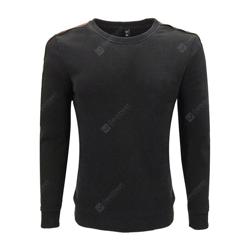 Spring and Autumn Men'S Round Neck SweatShirt Printing Zipper Decorative Casual Fashion Slim Long-Sleeved Sweatshirts