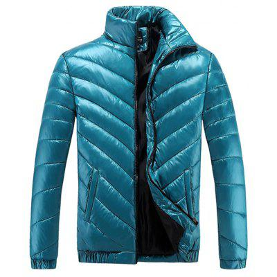 Winter Clothing Collar Men Leisure Fashionable Bright Face More Sporty Warm Cotton-Padded Jacket Coat