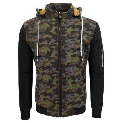 Winter Clothing Man'S Trim and Heavy Camouflage and A Fashionable Warm and Warm Hooded Coat