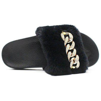 Faux Fur  Flat Slippers