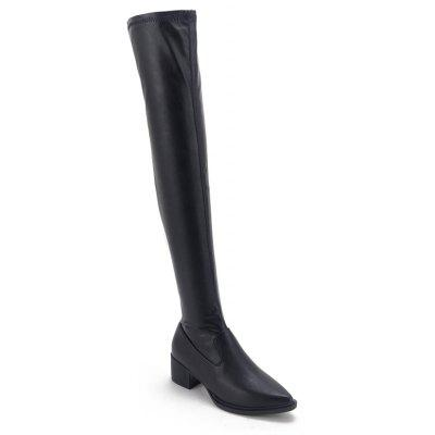 Lady Long Thigh-High Warm Boots