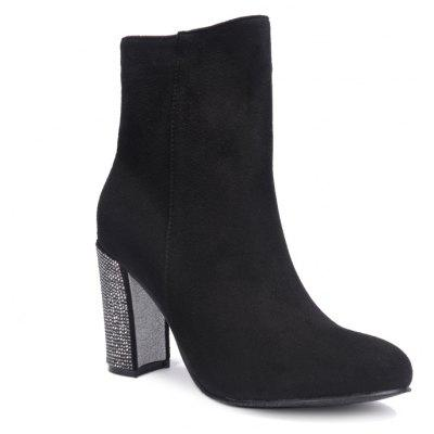 Women'S with Small Pointed Toes and Short Boots