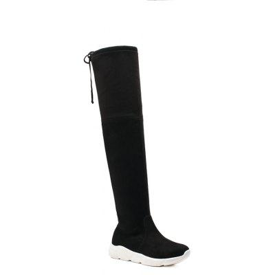 Lady Thin Athletic Knee High Boots with Thigh High Heel