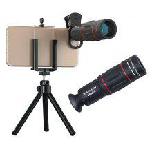 APEXEL APL-T18ZJ Universal Clip 18X Telescope Zoom Mobile Phone Lens with Tripod for iPhone Android Smartphone