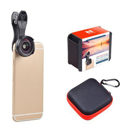 APEXEL APL - 0610WM 0.6X Super Wide Angle Lens with EVA Bag 2 in 1 Macro Lens Kit for Mobile Phone Camera