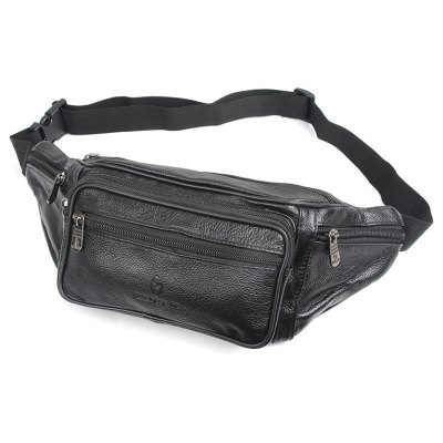 Fashion Genuine Leather Waist Bag Men's Multifunction Travel Bags Chest Pack Men Waist pack