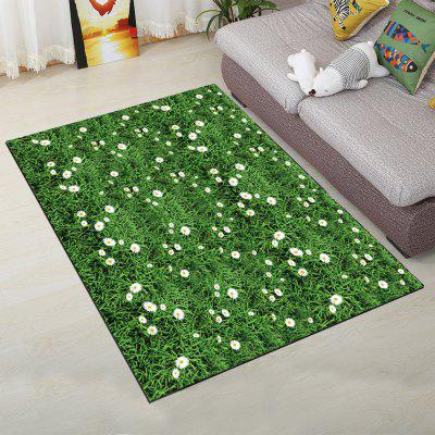 Buy Home Floor Rug Simple Fresh Green Lawn Design Rectangle Door Mat GREEN 140X200CM for $89.58 in GearBest store