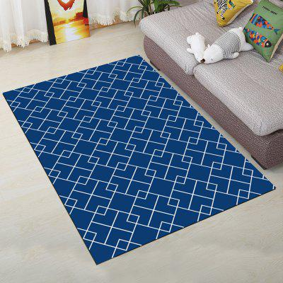 Buy BLUE 50X80CM Living Room Floor Rug Modern Geometric Pattern Soft Antiskid Mat for $17.98 in GearBest store