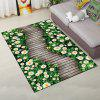 Home Rug Modern Bright Wood Bridge Pattern Rectangle Antiskid Soft Mat - GREEN